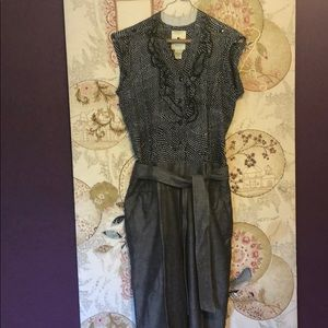 Anthropologie Elevenses Navy Chambray Jumpsuit 4